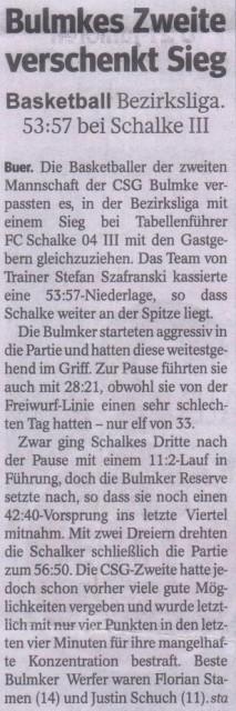 2013-11-20 - WAZ - 5. Spieltag